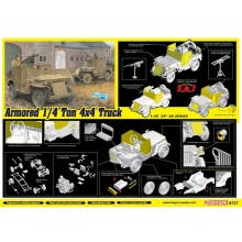 Dragon 500776727 - 1:35 Armored 1/4-Ton 4x4 Truck w/.50-cal